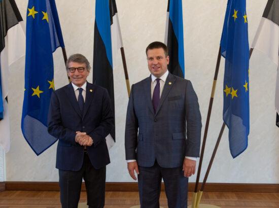 Riigikogu esimees Jüri Ratas ja Euroopa Parlamendi president David Sassoli