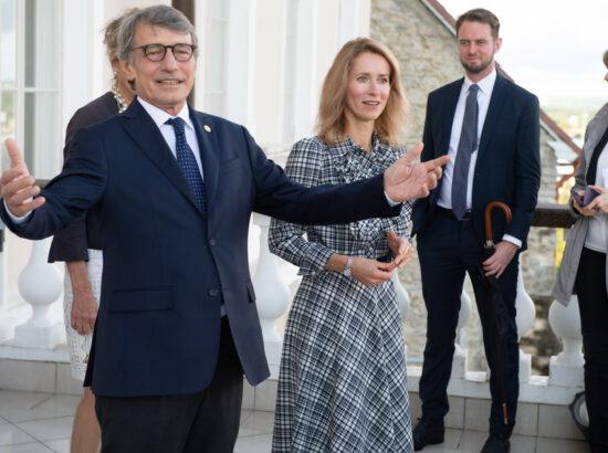 Peaminister Kaja Kallas ja Euroopa Parlamendi president David Sassoli