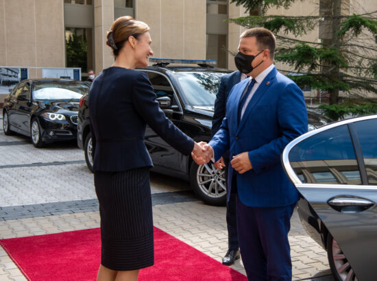Riigikogu esimees Jüri Ratas ning Leedu parlamendi esimees Viktorija Čmilytė-Nielsen