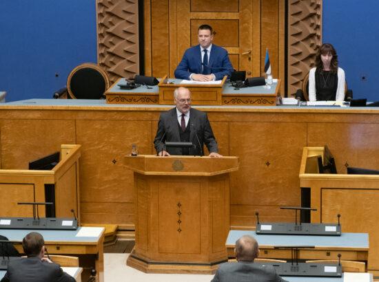 Vabariigi Presidendi valimise II hääletusvoor Riigikogus, 31. august 2021. Alar Karis.