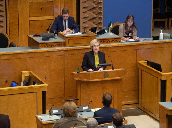 Õiguskantsleri 2020.–2021. aasta tegevuse ülevaade. Õiguskantsler Ülle Madise.