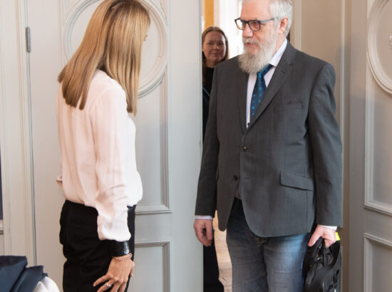 Euroopa Parlamendi esimene asepresident Roberta Metsola ja väliskomisjoni aseesimees Mihhail Lotman