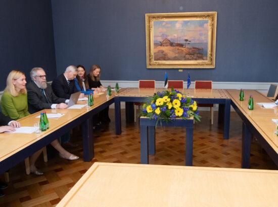 Riigikogu delegatsiooni kohtumine Euroopa Parlamendi esimese asepresidendi Roberta Metsolaga