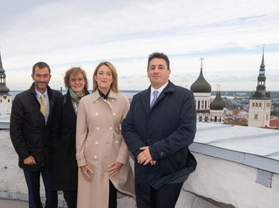 Euroopa Parlamendi esimene asepresident Roberta Metsola Pikka Hermanni tornis