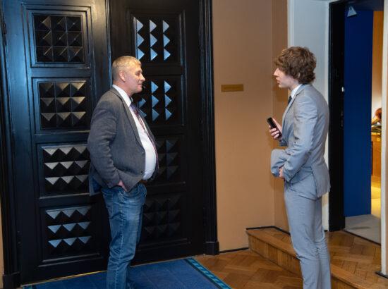 Riigikogu liige Kalle Grünthal ning tervise- ja tööminister Tanel Kiik