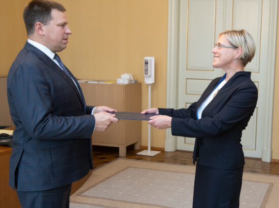 Riigikogu esimees Jüri Ratas võttis vastu Õiguskantsleri aastaülevaate, 13. september 2021