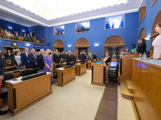 Riigikogu sügisistungjärgu avaistung, 13. september 2021