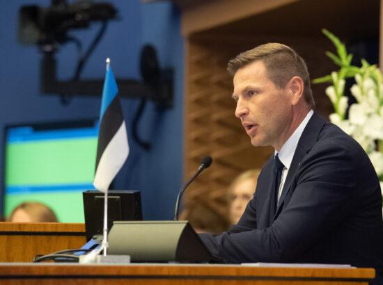 Riigikogu sügisistungjärgu avaistung, 13. september 2021. Riigikogu aseesimees Hanno Pevkur.