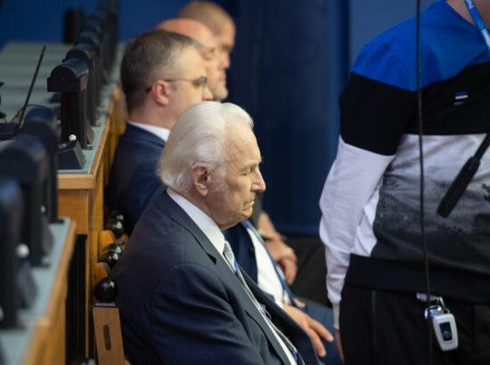 Riigikogu sügisistungjärgu avaistung, 13. september 2021. President Arnold Rüütel.