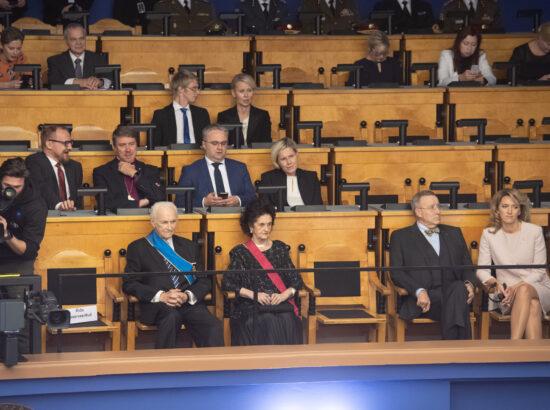 Täiskogu istung, Vabariigi Presidendi ametisse astumine