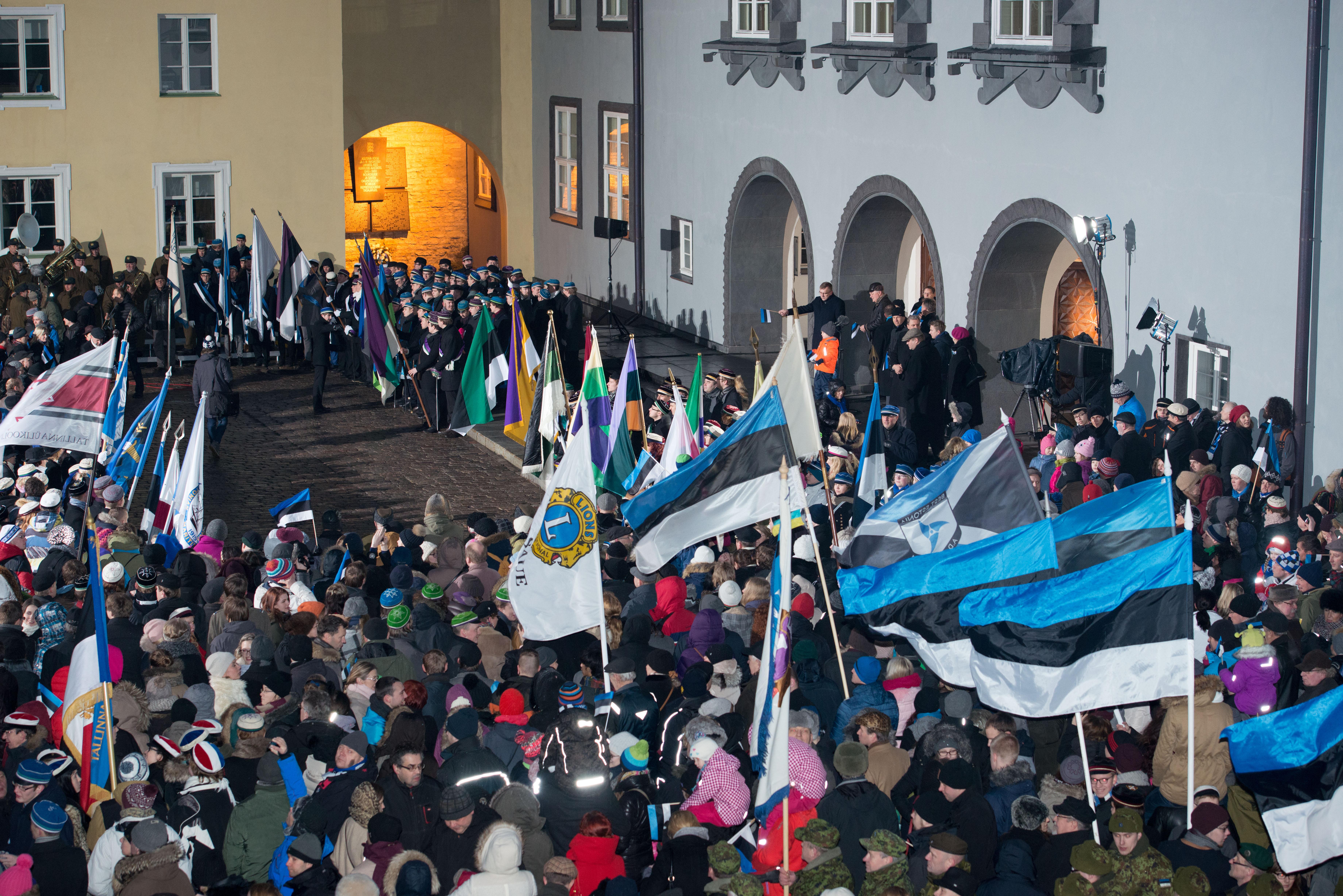 Открытка к дню независимости эстонии